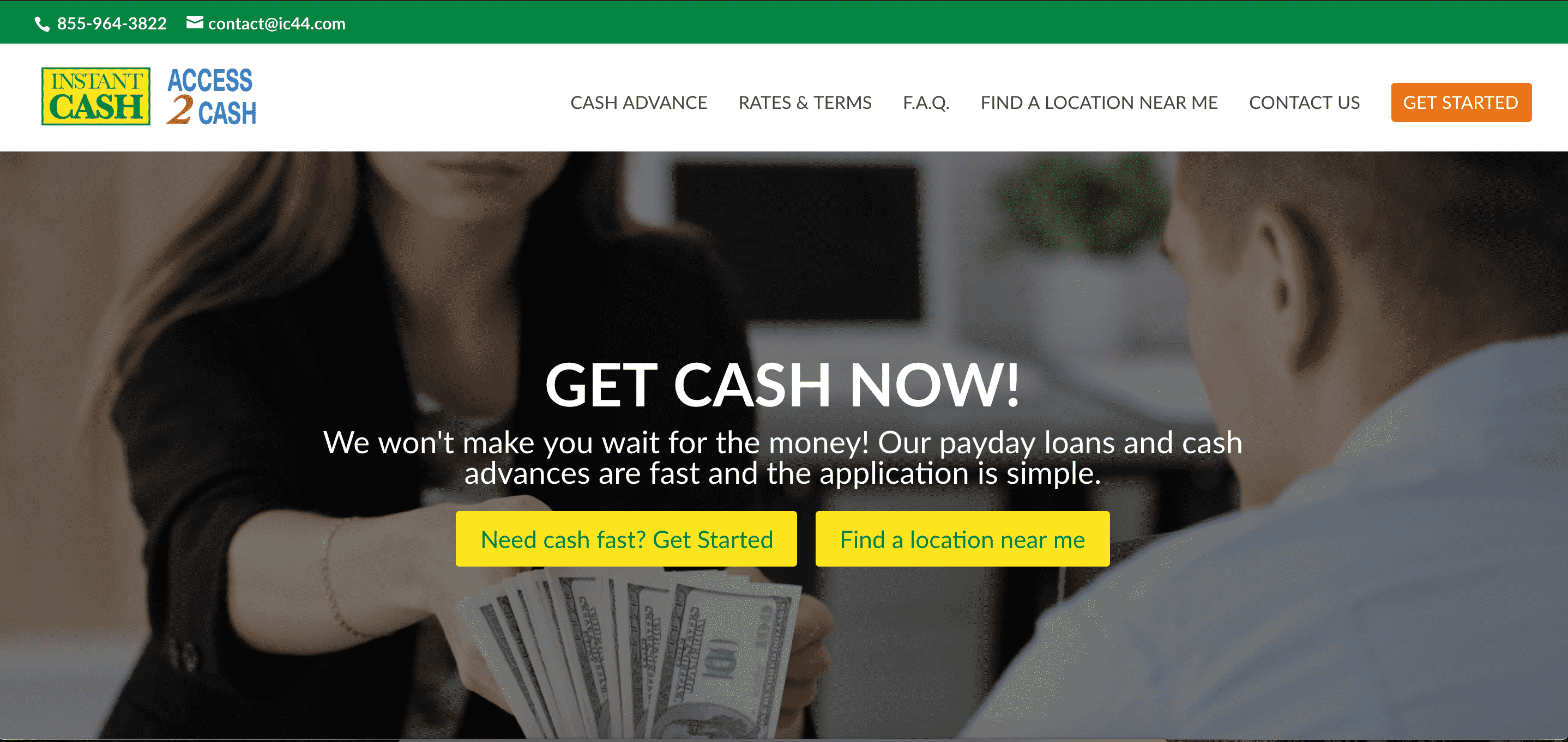 Instant Cash & Access 2 Cash Home Page